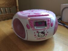 Hello Kitty Compact Disc Player Stereo Radio and Tape Recorder w/ Free Shipping