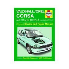 Vauxhall Corsa 1.0 1.2 1.4 1.6 Petrol 1997-00 (P to X Reg) Haynes Manual