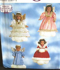 "Shirley Botsford 18"" ANGEL doll clothes dress boy girl Christmas clothes pattern"