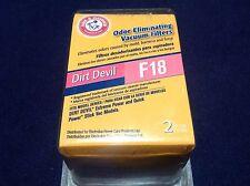 ARM & HAMMER 2-Pack Dirt Devil F18 Vacuum Filters 62624D Fragrance Free New!