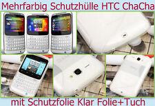 Cover case f HTC cha cha funda protectora para móvil, protección de silicona, bumper, protección TPU bolsa lámina mate