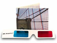 Dynomighty 3-D BROOKLYN BRIDGE bifold MIGHTY WALLET tyvek INCLUDES 3D GLASSES