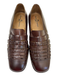 Tommy Bahama Men's Shoes San Giuseppe Espresso Brown Woven Leather 13M