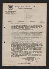 BERLIN, Brief 1932/33, Remington Büromaschinen GmbH Buchungsmaschinen