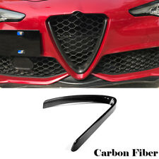 For 15-18 Alfa Romeo Giulia Base Front Grille Grill Cover Trim Carbon Fiber