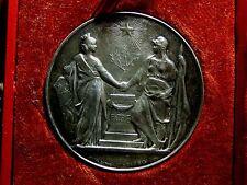 Art Nouveau CONSEIL MUNICIPAL DE PARIS 1890 Silver medal by DANIEL DUPUIS / N136