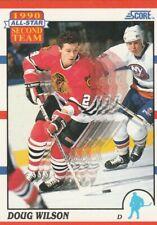 Doug Wilson 1990-91 Score #320 '1990 Second Team All-Star' Blackhawks - Like New
