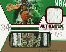 2003-04 FLEER AUTHENTIX PAUL PIERCE GAME USED JRY RIPPED TICKET BOSTON CELTICS