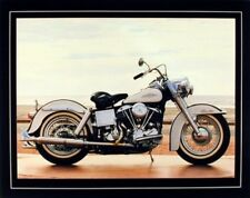 1967 White Shovelhead Harley Davidson Vintage Motorcycle Bike Art Print (16x20)