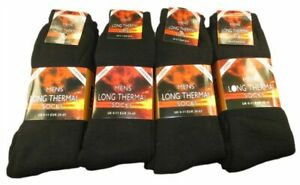 Ultimate 6 Pairs Men's Long Thermal Socks, Outdoor Warm Work Boot Socks, 6-11