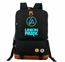 Linkin Park Rock Luminous Shoulder Backpack Book Bag School Bag Rucksack Gift:D