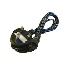 Laptop 3 Pins Clover Figured Mains Power Cable UK new M016