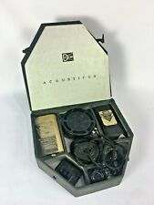 Dictograph Acousticon 28 Deluxe Vintage Hearing Aid with Box and Battery