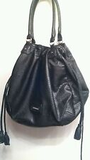 Mac & Jac large black drawstring handbag