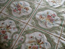 "Stunning!! Large Vintage Heavily Hand Embroidered LinenTablecloth-83""x 57"""