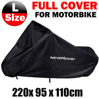 L Motorcycle Cover Motor Bike Moped Scooter Outdoor Waterproof UV Rain Protector