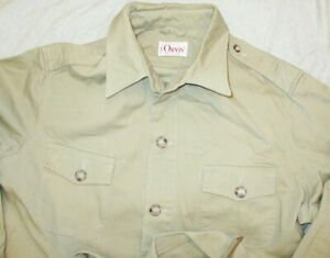 VINTAGE EUC ORVIS BEIGE CANVAS SAFARI HUNTING BELTED JACKET MADE IN USA M-L