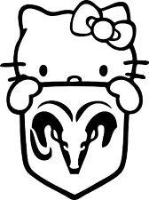 Sticker Hello Kitty Dodge - 22x30 cm