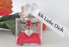 Frauen Valentinstag Geschenk  Rot Schutzengel im Glas- Ich Liebe Dich-