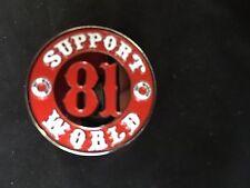 SUPPORT 81 NOMADS 1%ER new BIKER's pin ANGELS 666 HELLS T shirt VEST badge patch