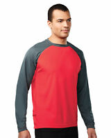 Tri-Mountain Men's Crewneck Raglan Sleeves Crewneck Performance T-Shirt. 634