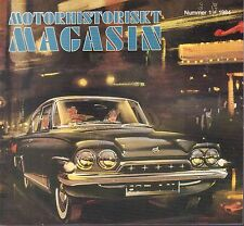 Motorhistoriskt Magasin Swedish Car Magazine #1 1984 Alvis Tour 031617nonDBE