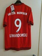 Maglia Shirt Trikot Calcio Football Lewandowski Bayern Munchen 2015/16 M