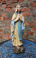 ❇ Virgin Mary Statue Our Lady of Lourdes Madonna Antique Vintage Plaster 51cm