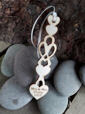 Personalised Welsh  Wooden Love Spoons Favours,Vintage Wedding Decoration x 10