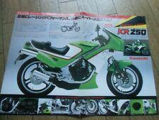 New listing kawasaki Kr250 & Line up Gpz750R Gpz750F Gpz400F Gpz250 Brochure Japan