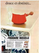PUBLICITE ADVERTISING 095  1968  FRIGIDAIRE  le lave vaisselle