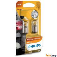 PHILIPS R5W Vision Halogen Bulb 12V 5W BA15s 12821B2 Twin