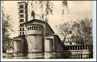 Postdam Brandenburg DDR Postkarte gelaufen 1963 Sanssouci Friedenskirche Kirche