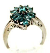 Item #813 Madagascar Paraiba Apatite (Mrq)  Sterling Silver Ring, Size 5