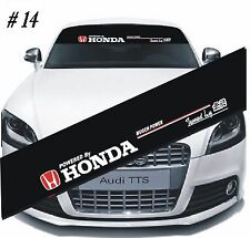 HONDA Mugen Power Car Front Window Windshield Matte Black Banner Decal Sticker