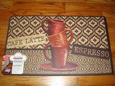 Anti Fatigue Memory Foam Comfort Kitchen Mat Rug 18x30 COFFEE Cup CAFE Espresso
