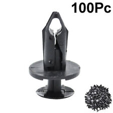 100pc 8mm Hole Plastic Rivets Fastener Fender Bumper Clip For Honda Audi Ford