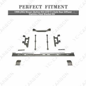 VS Rear Diffuser Stainless Steel Bracket Kit For 99-02 Nissan Skyline R34 GTR