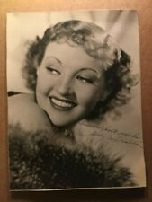 Betty Grable Stunning Very Early Rare Original Autographed Photo 1930s
