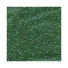 Delica Beads Miyuki 11/0 Seed Beads DB152 Green AB Transparent Glass Cylinders