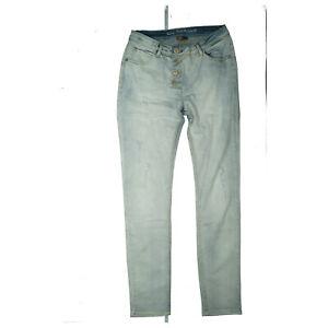 Street One skinny Damen Stretch slim Jeans Hose destroyed W29 L30 hellblau