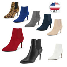 Women's Fashion Pointed Toe  Stilettos High Heel Ankle Boots Slip On Boots