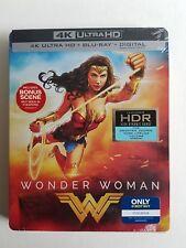 WONDER WOMAN STEELBOOK (4K UHD + Blu-Ray + Digital Copy) New & Sealed Gal Gadot