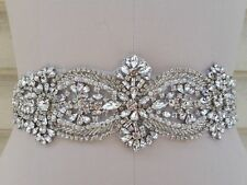 Wedding Bridal Dress = Crystal Pearl APPLIQUE PART ONLY! = DIY!!