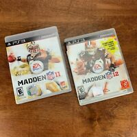 Madden NFL Football BOTH 2011 & 2012 - PlayStation 3 PS3 Games - FREE SHIP