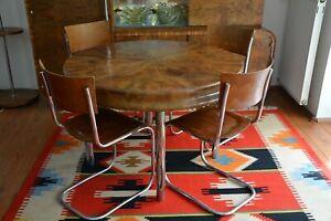 Original Rundtisch mit vier Stühle Bauhaus 1930