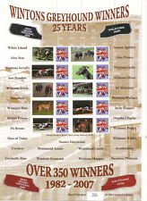 BC-187 PLANET PRIINTS WINTONS GREYHOUND WINNERS SMILERS Stamp Sheet