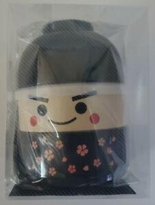 HAKOYA Lunch Bento Box 52075 Big Kokeshi Doll Ichiro Black Bowl MADE IN JAPAN