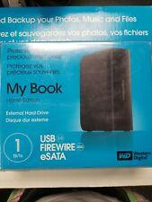 NEW Western Digital My Book Home Ed. 1TB USB 2.0 Firewire 400 Desktop Hard Drive