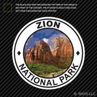 Zion National Park Sticker Premium Die Cut Vinyl hike camp ut utah